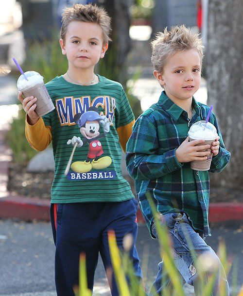 Sean Preston and Jayden James, 2012 Singer Britney Spears takes her sons Sean and Jayden out for a milkshake in California.