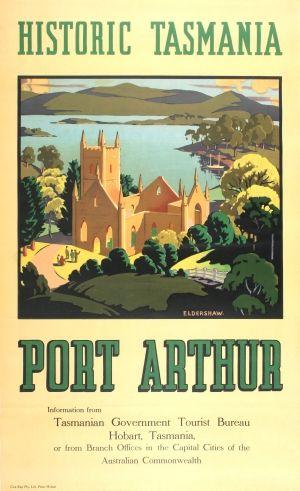 Tasmania Port Arthur Australia, 1930s - original vintage poster by John…