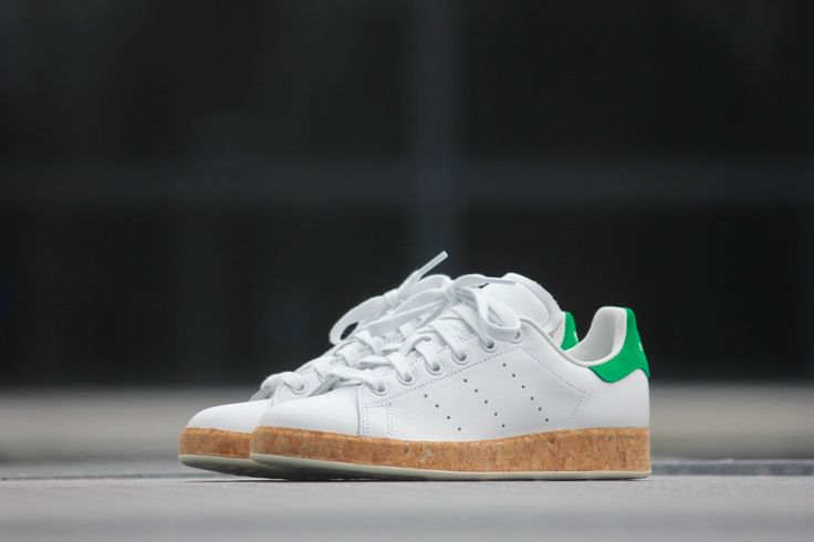 Adidas Stan Smith Luxe White Green Cork - S79808