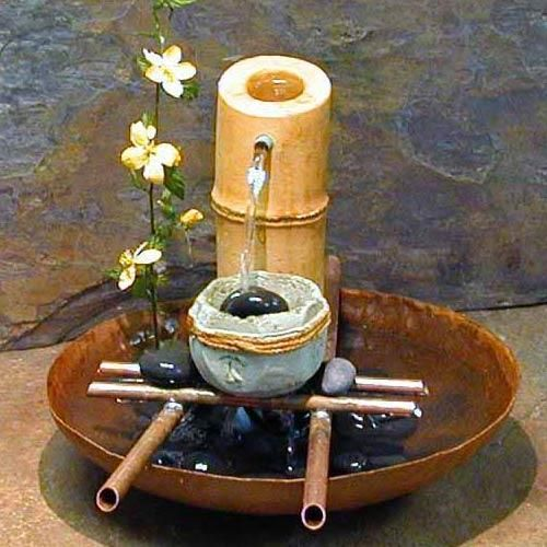 Ancient chinese bamboo fountain.