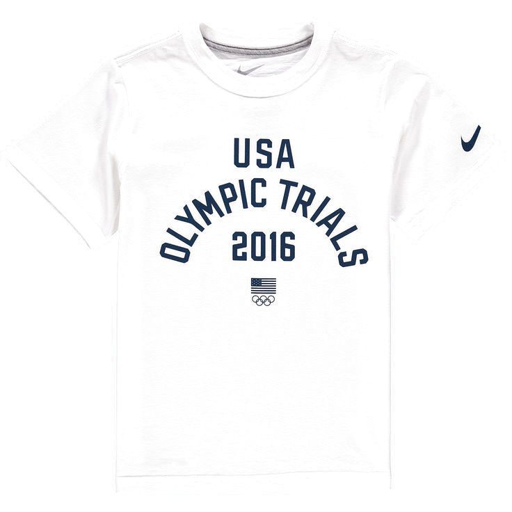 Team USA Nike Youth 2016 Olympic Trials T-Shirt - White - $18.04