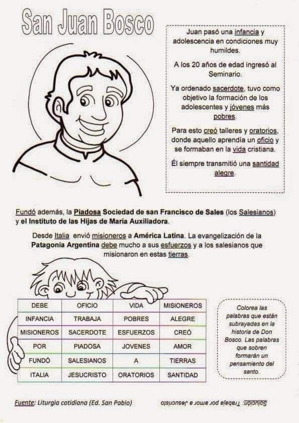 Pin De José Maria Pozo Dominguez En Catequesis Estudios Bíblicos Para Niños Juan Bosco Catequesis