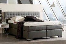 Mooie #grijze stijlvolle #boxspring | eye-cather op je slaapkamer.  Heerlijk comfortabel | ZOOK.nl