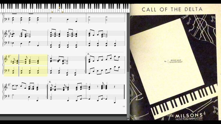 Call of the Delta by Irving Mills & Buster Bailey (1935, Jazz piano)