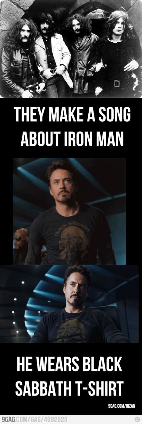 Also ACDC had an album titled Iron Man II, and Tony Stark plays ACDC all the time...