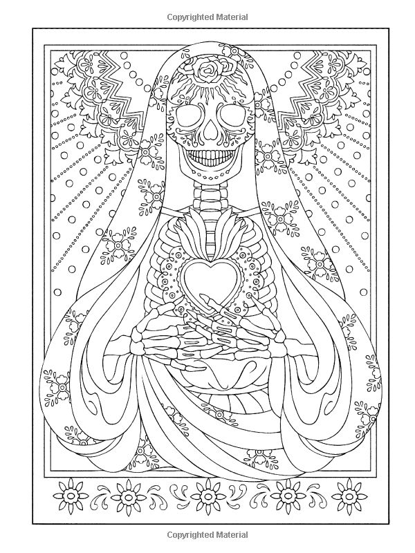 Creative Haven Day Of The Dead Coloring Book Creative