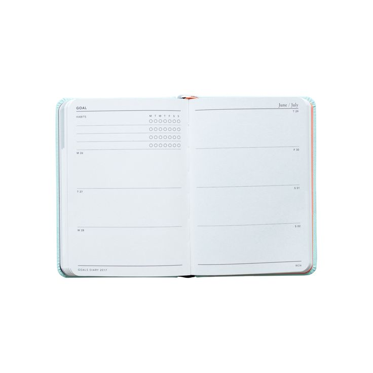 2017 Goals Diary Hard Cover - Mint A6 / $24.95AUD  ----------------------------------------------------------------------------------- We're on a mission to help you unlock the potential within yourself to dream, plan and take action on the life you want. More than a stationery brand, we're a global community of dream chasers and action takers. @MiGOALS