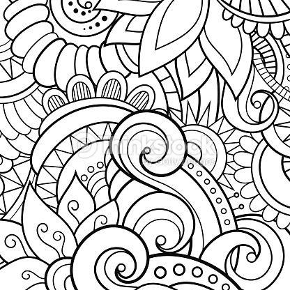Fantástico Arte Abstracto Para Colorear Páginas Animales Elaboración ...