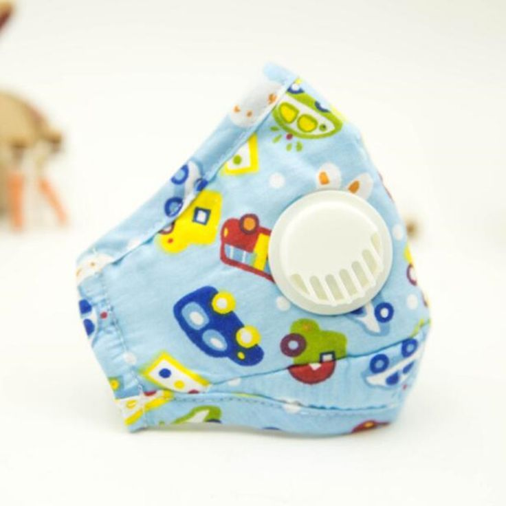 3 15year old Kids Cotton PM2 5 Anti Haze Mask Breath valve anti dust mouth mask. Click visit to buy