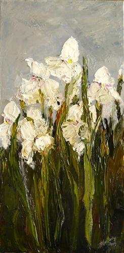 Irises: Art Work, Oil Paintings, Oil On Canvas, Vans Gogh, Judy Mackey, Impressionism Art, Art Oil, White Iris, Iris Oil