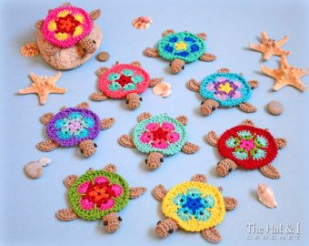 CROCHET PATTERN  Curious Cats  a colorful cat di TheHatandI