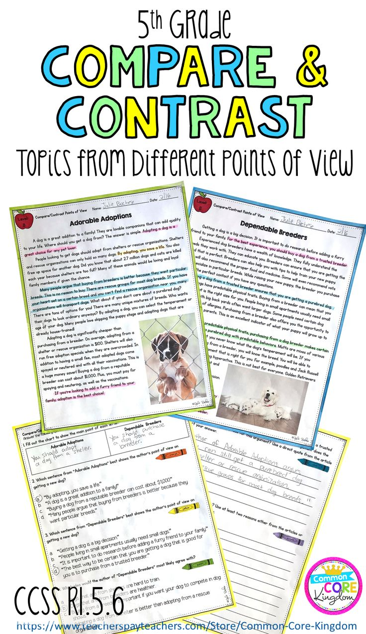 Informational nonfiction passages to teach your 5th graders how to compare and contrast multiple accounts on the same topic from different points of view. 7 paired passages and comprehension questions. Assessment is also included.
