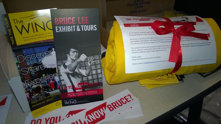 We sent suits and information about the exhibit to people and organizations all around the city (and country)