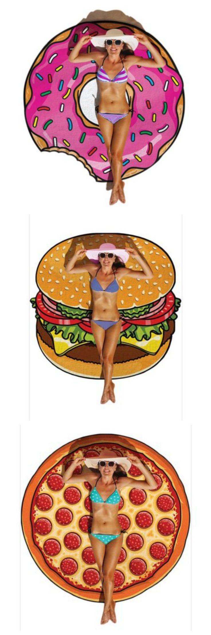 Donut Towel | Hamburger Towel | Pizza Towel | Round Towel
