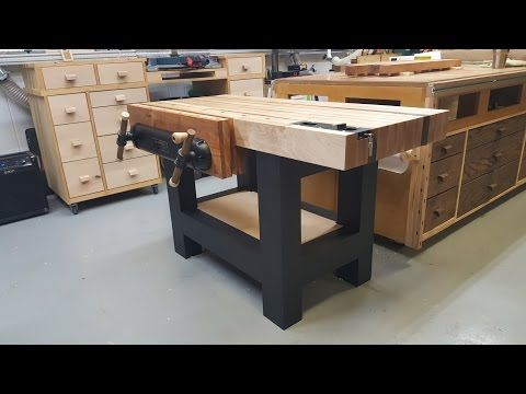 Traditional Workbench for a Power Tool Woodworker - YouTube
