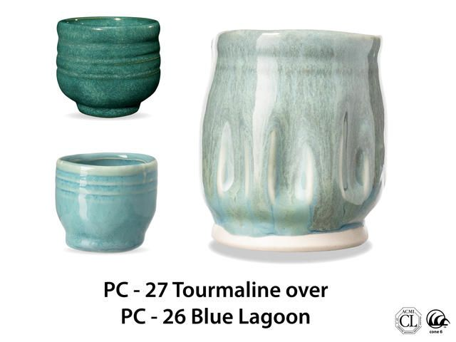 Pc 27 Tourmaline Over Pc 26 Blue Lagoon Amaco Brent In 2020 Glazes For Pottery Amaco Glazes Ceramic Glaze Recipes