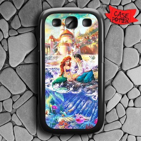 Disney Ariel And Eric Samsung Galaxy S3 Black Case