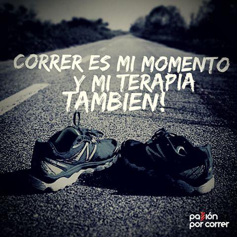 Correr es mi momento y mi terapia también :)