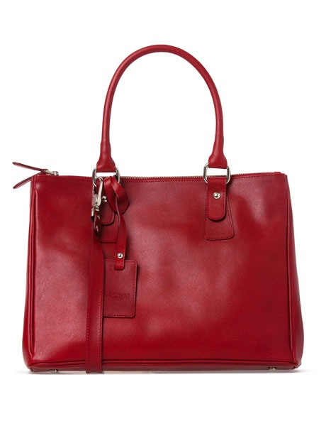 Innovare Made in Italy | Large Leather Work Tote in Red 7576 | Myer Online