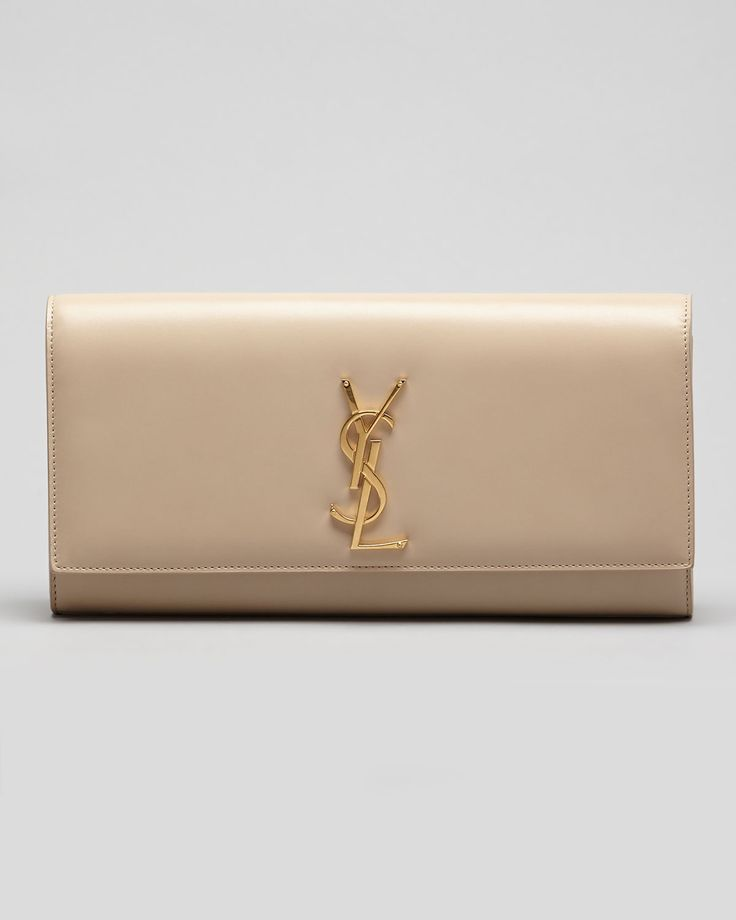 YSL Clutch: I need this nude clutch in my life <3