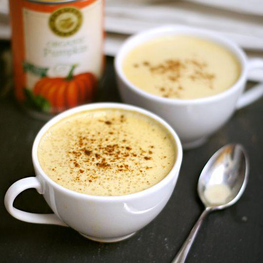 Healthier Pumpkin Spice Latte recipe (no dairy, no fake pumpkin flavor..)
