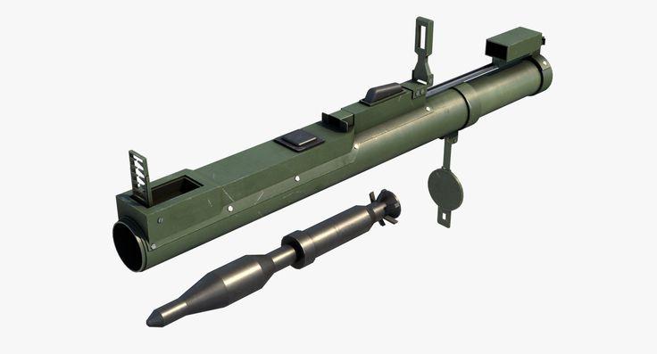 m72 law rocket launcher 3d model