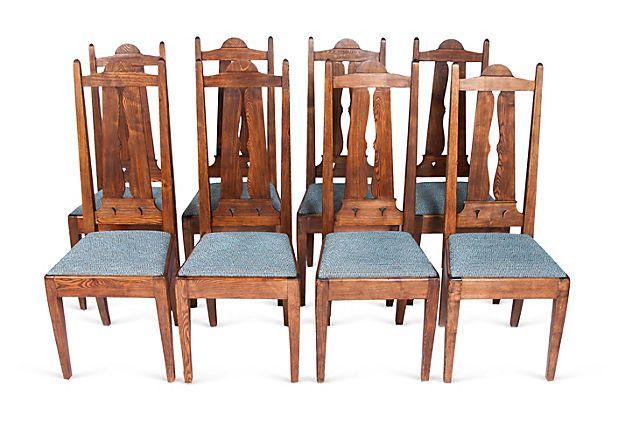Antique Craftsman Chairs, Set of 8 on OneKingsLane.com