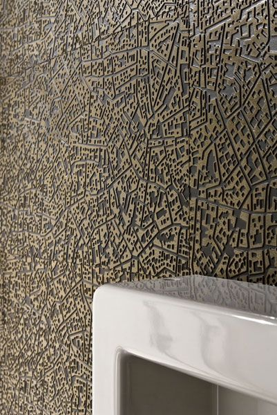 Porcelain stoneware wall/floor tiles CITY by LEA CERAMICHE #map #golden #interiors