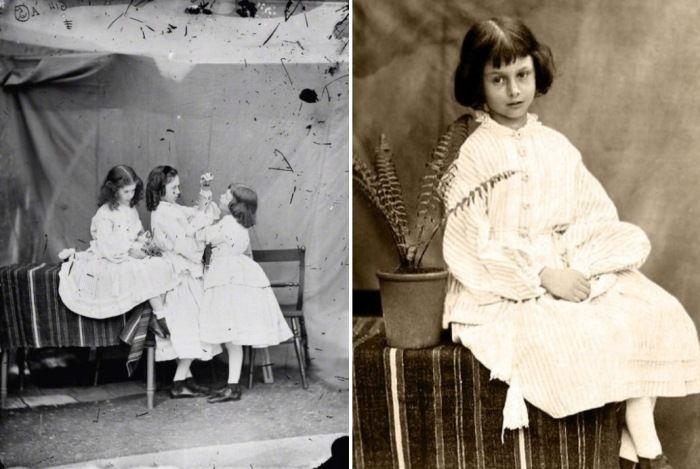 Алиса Лидделл с сестрами, 1860 г. Фото Льюиса Кэрролла
