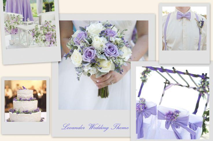 Levander Wedding Theme #wedding #design #levander #weddingflower #ido #santorini