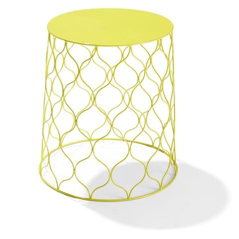 Wire Side Table - Yellow | Kmart - paint for a funky plant stand