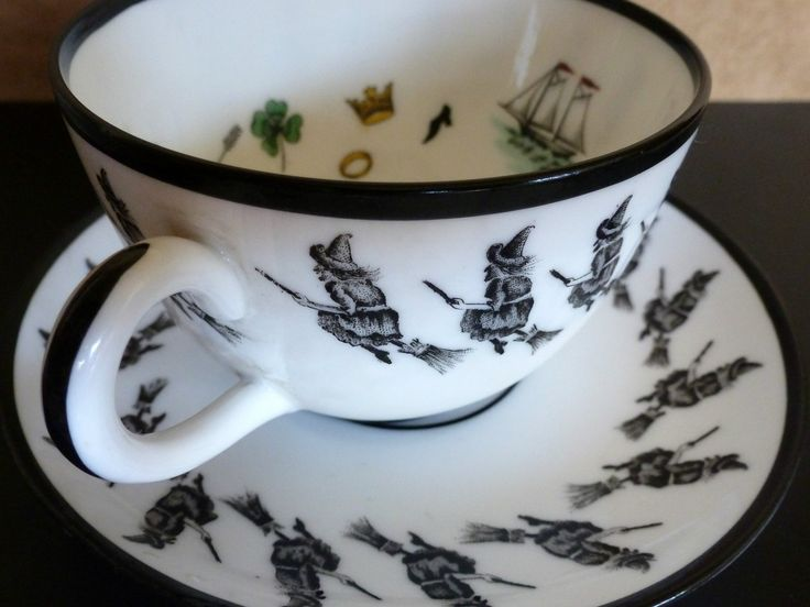 Vintage Witch Fortune Telling Tea Cup