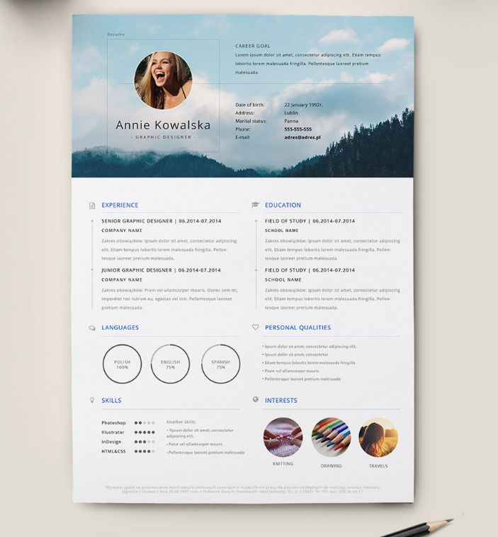 7 best resumes images on Pinterest - artist resume templates