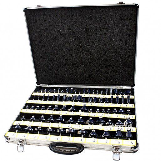 """80pc 1//2/"""" Shank Tungsten Carbide Router Bit Set 2 Blades 3 Blade Woodworking"""