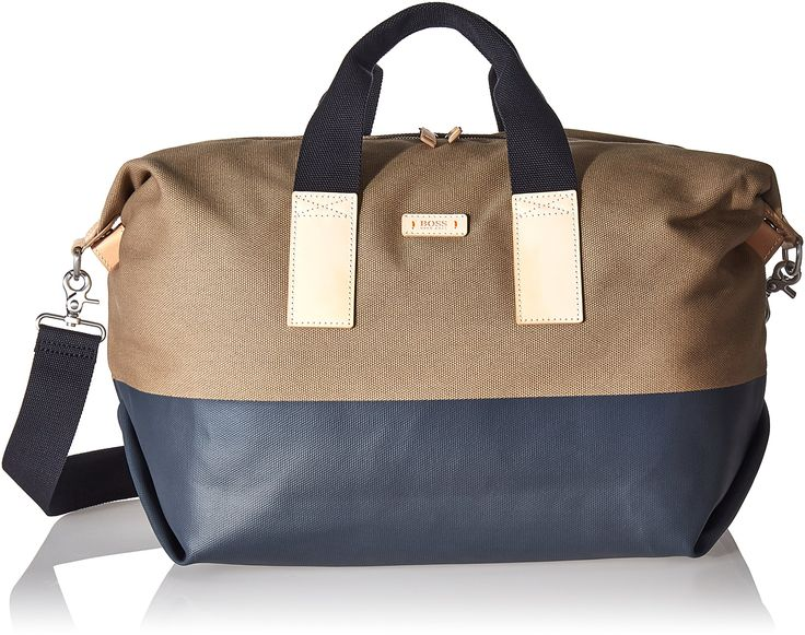 BOSS Orange Men's Lightime Holdall Weekender Bag, Medium Beige