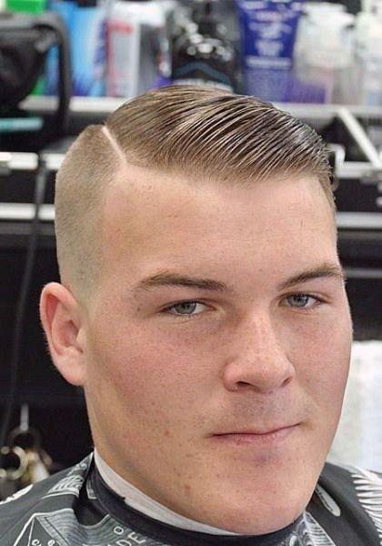 The zero razor fade -Side part slicked | Greaser hair ...