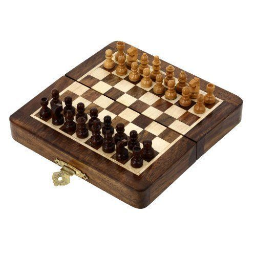 Travel Folding Chess Set And Board Wooden Pieces Gifts Unusual ** Check this awesome product by going to the link at the image.