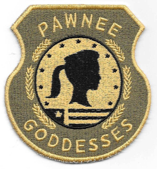 """This Pawnee Goddesses patch:   Community Post: 21 Items Every """"Parks And Rec"""" Fan Should Treat Yo' Self To"""