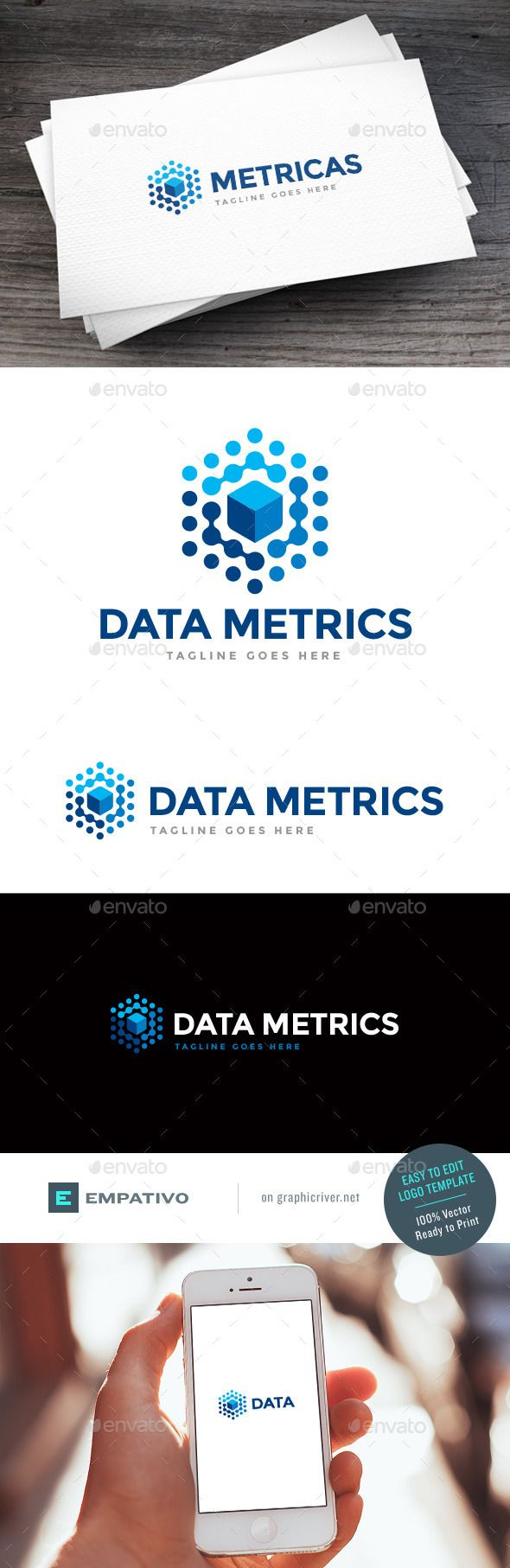 Data Metrics   Logo Design Template Vector #logotype Download it here: http://graphicriver.net/item/data-metrics-logo-template/11580000?s_rank=773?ref=nexion