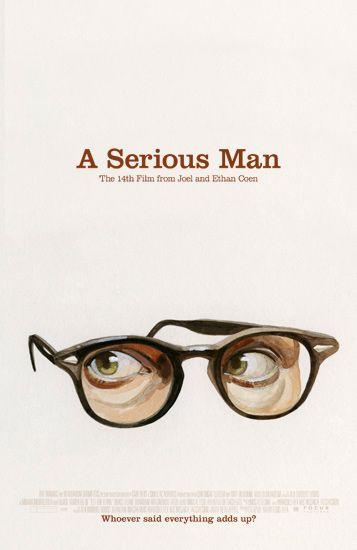 "MP452. ""A Serious Man"" Alternative Movie Poster by Akiko Stehrenberger (Joel & Ethan Coen 2009) / #Movieposter"
