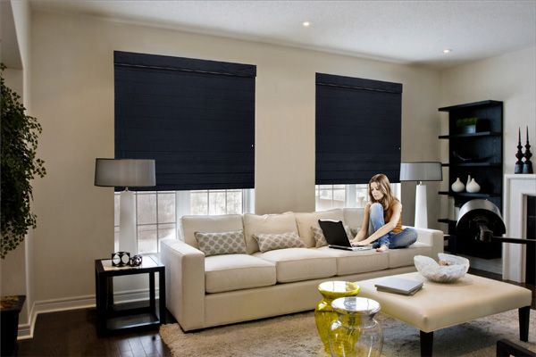 If you want the designer look in your home, you can't go past these super-elegant Roman blinds.