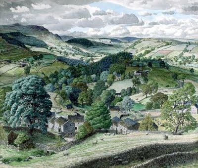 Stanley Roy Badmin - 'Wharfdale Looking Towards Grassington, Yorkshire.'