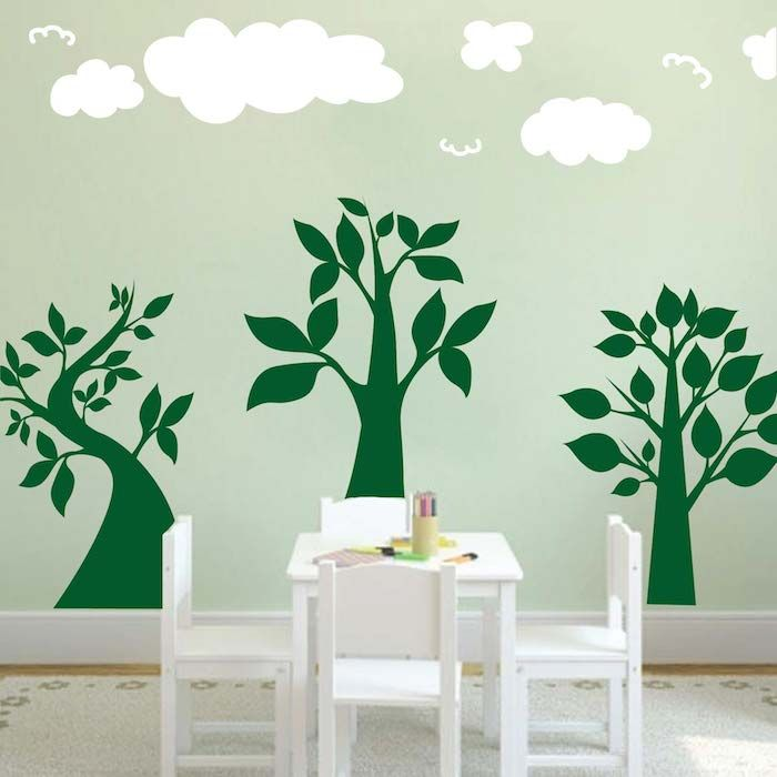 three lil trees wall art design - Designer Wall Stickers