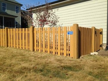 wood fences semi privacy - Google Search