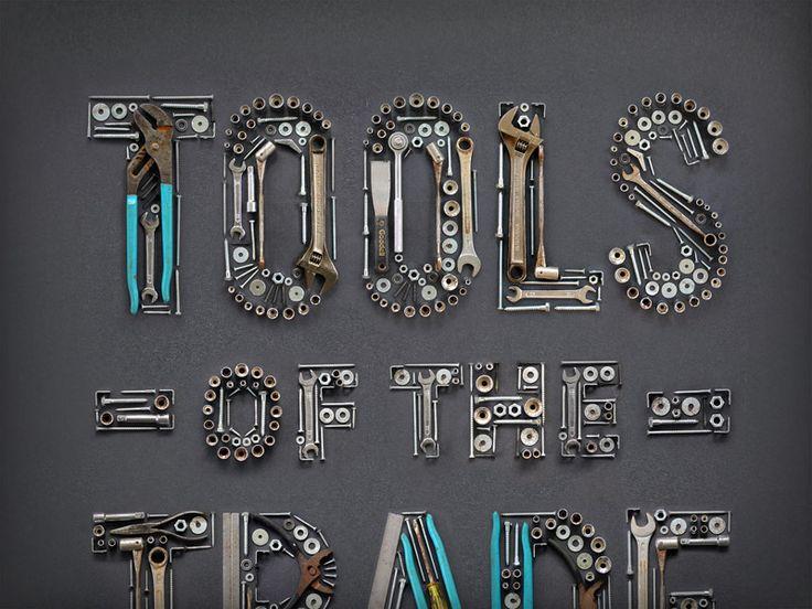 Tools Of The Trade Typography Alphabet Typography