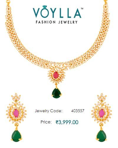 #Round Detailing #Pear #Dangled With Pear Drop For Women In Yellow Gold Finish  #Price : Rs. 3,999.00  #Jewelry_Code : 403557  #Material : Brass