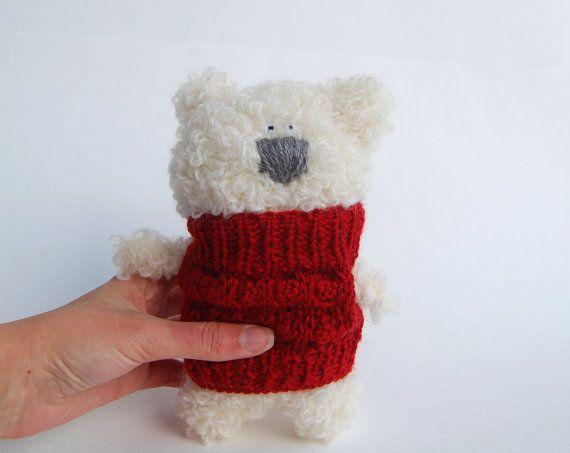 Teddy Bear Polar Crochet Soft Toys Stuffed Animal by RomeoShop