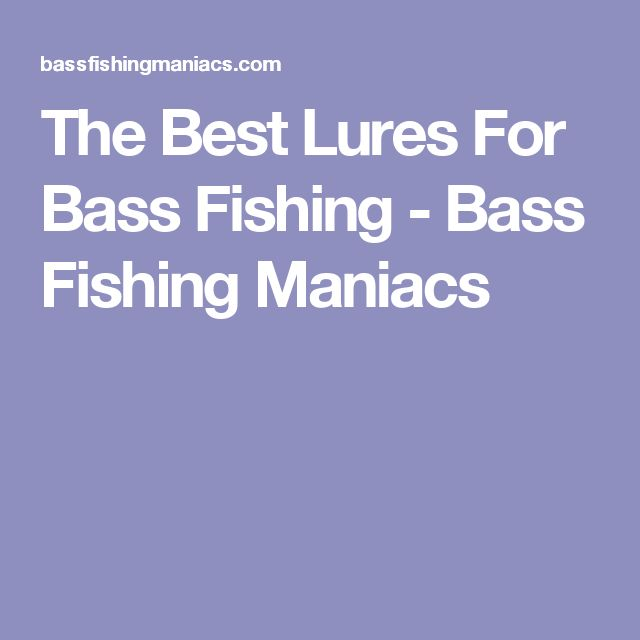 The Best Lures For Bass Fishing - Bass Fishing Maniacs