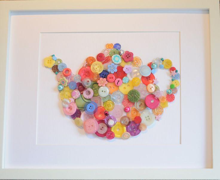 cute button art! So cute in a kitchen!!!