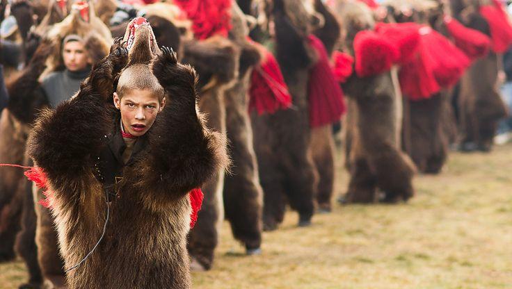 Romanian Bear Dancers  #romania #discoverromania #tradition